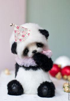 Купить Leolo) - чёрно-белый, панда, мишка, подарок на новый год, подарок, медвежонок тедди, альпака