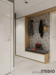 Modern Entryway Bench with Storage . Modern Entryway Bench with Storage . Small Modern Entryway Shoe Storage Design Bined with White Bench Entryway, Entryway Cabinet, White Hallway, Entryway Bench Storage, Modern Entryway, Garage Entryway, Porch Storage, Storage Benches, Entry Bench