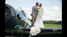 Airport wedding, big kiss!!