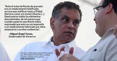Ayer, el Gobernador de Veracruz, Miguel Ángel Yunes Linares, acusó que durante la gestión de su antecesor Javier Duarte de Ochoa se aplicaba agua destilada a niños que padecían cáncer en lugar de la medicamento que realmente necesitaban.