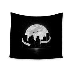 Kess InHouse Digital Carbine 'Goodnight' White 51x60-inch Tapestry