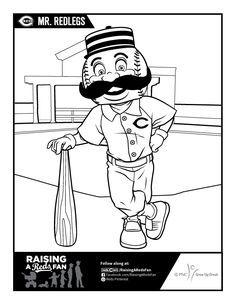 Mr Redlegs Coloring Page Cincinnati Reds Baseball Cincinnati Reds Reds Baseball