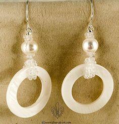 White geometry earrings E818 by Fleur-de-Irk.deviantart.com