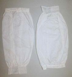 Sleeves (Undersleeves)  Date: ca. 1860  Culture: American or European  Medium: linen