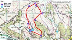 Map route for Sugarloaf circuit walk Wales Holiday, Day Trips, Circuit, Walking, Map, Mountains, Outdoor, Outdoors, Location Map
