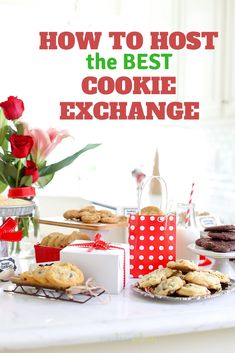 How to Host the Best Cookie Exchange Plan the perfect holiday cookie exchange with these tips! From the invites to the refreshments, you'll Host the Best Cookie Exchange in the neighborhood. These cookie exchange party ideas are the best! Recipe Exchange Party, Cookie Exchange Party, Christmas Cookie Exchange, Christmas Tea, Fun Cookies, Holiday Cookies, Holiday Treats, Holiday Foods, Holiday Parties