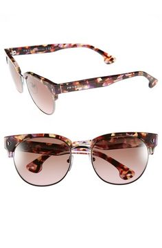 Prada 51mm Sunglasses available at #Nordstrom http://effortlesseverydaystyle.blogspot.com/