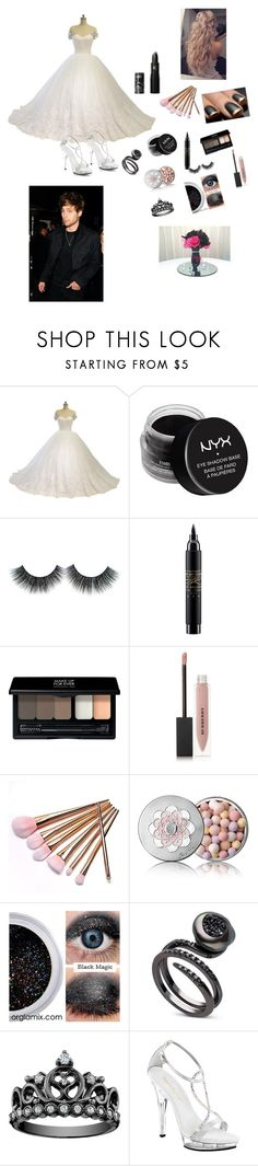 """Wedding with Luke"" by princessmalfoy16 ❤ liked on Polyvore featuring NYX, MAC Cosmetics, MAKE UP FOR EVER, Burberry, Guerlain, Fabulicious and Lipstick Queen"