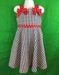 Rare Editions Black And White Gingham Dress Red Polka Dot Bows Size 5 | Clothing, Shoes & Accessories, Kids' Clothing, Shoes & Accs, Girls' Clothing (Sizes 4 & Up) | eBay!