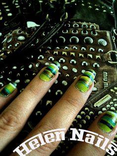 Green nails miu miu inspired nails miu miu
