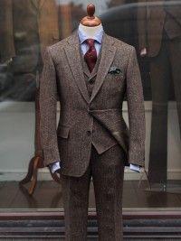 Bladen Brown Donegal Tweed Three-piece Suit