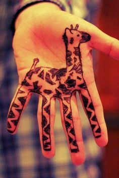 When you have time on your hands sometimes you end up with a giraffe on your hands too
