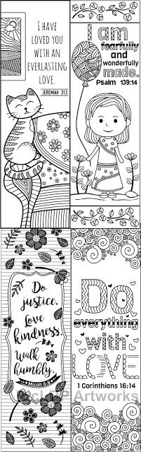 coloring bookmarks for kids #coloring #bookmarks