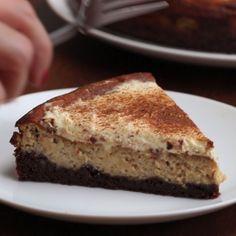 Pumpkin Spice Chocolate Cheesecake