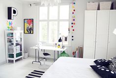Scandinavian design - great teenager's room.
