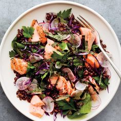 Roasted Salmon and Baby Kale Salad recipe