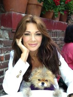 the gorgeous and sweet Lisa Vanderpump and Giggy at the Ivy Restaurant on Robertson Blvd in LA