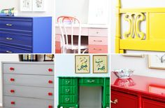 bold paint colors for furniture | Natty by Design
