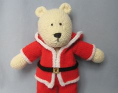 Polar Bear toy knitting pattern van fluffandfuzz op Etsy