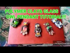 Polymer clay and Glass Owl pendant Tutorial!