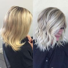 Image result for golden blonde highlights on gray hair