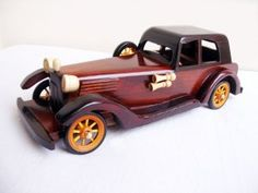 Vintage Handmade Wooden Toy Car Decorative Gift