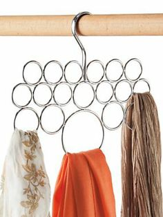 Scarf Holder - Closet Rod Scarf Hanger | Solutions @Amy Boldt-Flock Thought you would love this mom! This website is amazing!!