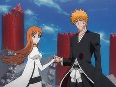 King and Lionheart Ichigo X Orihime, Anime Bleach, Bleach Art, Awesome Anime, Anime Love, Manga Art, Manga Anime, Anime Pictures, Comic Movies