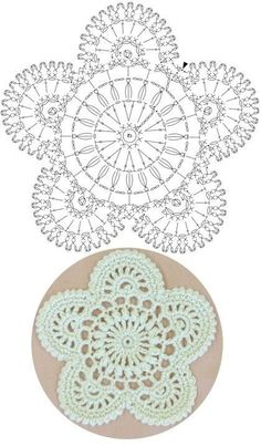 Captivating All About Crochet Ideas. Awe Inspiring All About Crochet Ideas. Crochet Coaster Pattern, Crochet Mandala Pattern, Crochet Circles, Crochet Flower Patterns, Crochet Diagram, Crochet Chart, Crochet Squares, Thread Crochet, Crochet Doilies