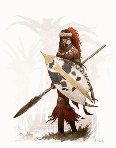 N'Gora, lieutenant de Belit. Conan Hyborian Quests.