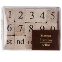 Recollections Wood Stamps, Number Set