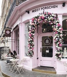 Cute cafe exterior