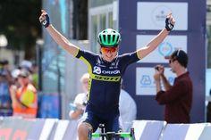 Annemiek van Vleuten celebrates her Cadel Evans Great Ocean Road Race victory