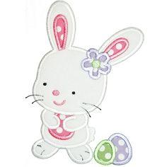 Easter Egg Bunny Applique