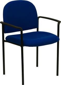 Flash BT-516-1-NVY-GG - Navy Fabric Comfortable Stackable Steel Side Chair with Arms | Sale Price: $49.35