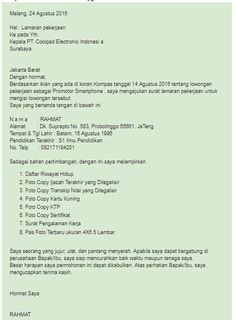 Contoh Surat Lamaran Kerja Contohsuratlamarankerja99 Profile Pinterest