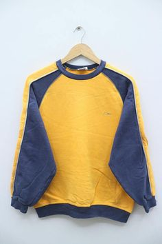Vintage OP OCEAN PACIFIC Small Logo Yellow Pullover Sweater
