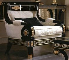 Living Room Set in Empire Style - Top and Best Italian Classic Furniture