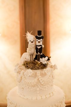 Bride and Groom Bird Cake Topper