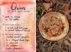 Quinoa with butternut squash, red bell peppers and figs! A simple, colorful, autumn dish. Serve warm or at room temperature. (A great side for Thanksgiving!)  By Erin Gleeson for The Forest Feast