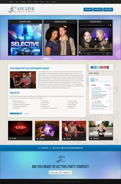 Liv Live Entertainment #webdesign #joomla #cms #template #theme #custom #business #corporate #responsive #inspiration #bootstrap #events #party #website #webunderdog