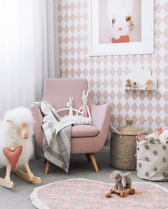 How To Design Your Home: 60 Best Decorating Ideas Pink Bedroom For Girls, Baby Bedroom, Little Girl Rooms, Baby Room Decor, Pink Bedrooms, Trendy Bedroom, Nursery Decor, Design Your Home, Kids Decor