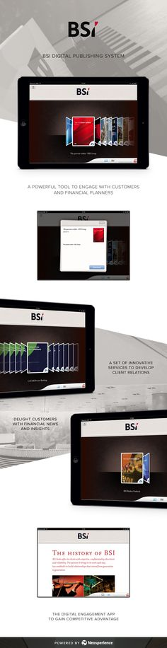 BSI digital publishing system. A powerful tool to engage with customers and financial planners.