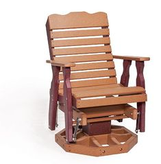 Amish Polywood Curve Back Swivel Porch Glider Chair. We could use at least two of these!