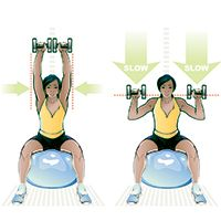 Stability ball excercise