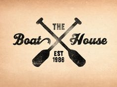The Boat House; Logo by Jonathan Schubert