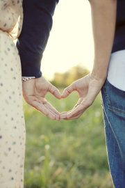Another heart photo idea for engagement pictures.