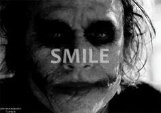 heath ledger joker smile gif