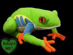 Newport Aquarium Stuffed Plush Beanie Green Red Eyed Tree Frog Animal