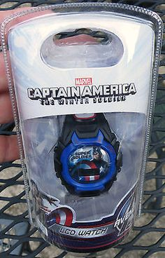 #Captain #america lcd #watch the winter soldier avengers marvel,  View more on the LINK: http://www.zeppy.io/product/gb/2/262807758506/